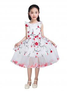 Emondora Little Big Girls' short Dress Flowers Girl Brithday Party Dress