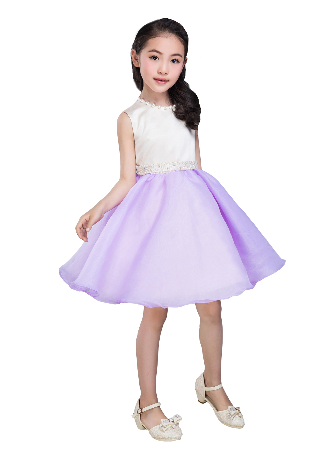 Emondora Little Girls Short  flower girl birthday party dress