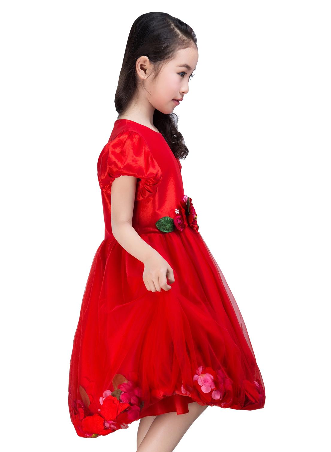 Emondora Flower Girl Dress Princess Formal Birthday Party Dresses